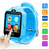 Kids Smartwatch Phone Game Smartwatches for Kid Smart Watches Camera Games Touch Screen Cool Toys Watch Gifts for Girls Boys Children (Blue)