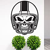Wall Words Sayings Removable Lettering American Football Helmet Skull for Kids Bedroom