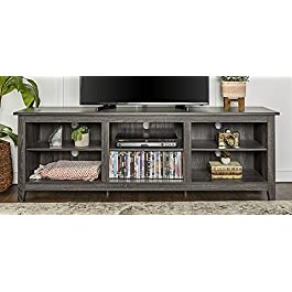WE Furniture 70″ Wood Media TV Stand Storage Console