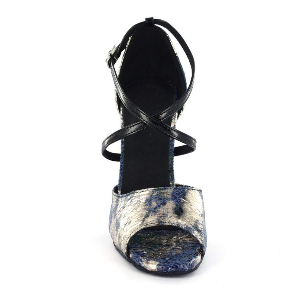 HCCY Blaue Blaume Latin Dance Schuhe Weiche Weiche Weiche Ballschuhe der Indoor-Damen 8b3caf