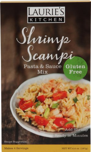 Laurie's Kitchen Pasta Entree Mix Gluten Free, Shrimp Scampi, 6.6 Ounce