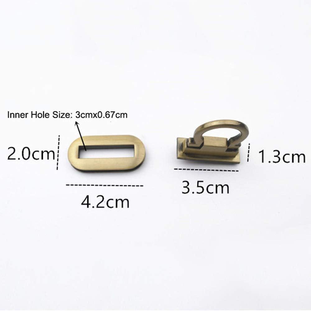 ISKYBOB 4 Pieces Metal Ring Clasp Turn Lock Purse Twist Clutch Hardware Buckle DIY Handbag Wallets Supplies