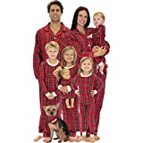SleepytimePjs Family Matching Red Plaid Flannel Pajamas PJs Sets for the Family