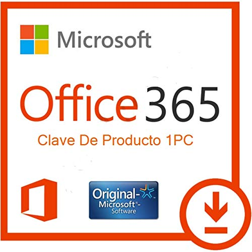 365 Microsoft Office 2019 Clave de Producto 1PC