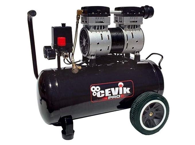 Cevik - Ca-pro40silent - compresor 230v- 2hp- 40 lt.- 8 bar- 196lt./ min. silencioso: Amazon.es: Bricolaje y herramientas