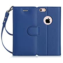 iPhone 6S case, iPhone 6 case, FYY [Top-Notch Series] Premium Leather Case All-Powerful Cover for iPhone 6/6S Navy Blue