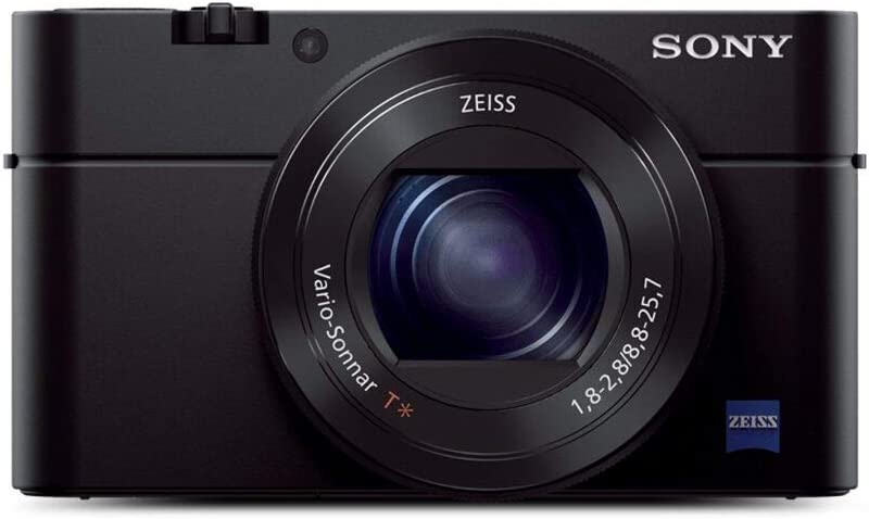 Sony RX100 III 20.1 MP Premium Compact Digital Camera w/1-inch Sensor and 24-70mm F1.8-2.8 ZEISS Zoom Lens (DSCRX100M3/B), 6in l x 4.65in w x 2.93in h, Black