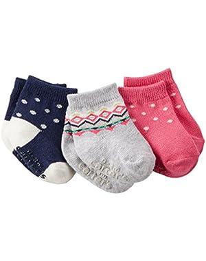 Baby Girls 3 Pack Socks (Fair Isle)