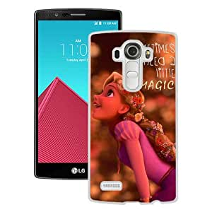 LG G4 Sometimes We Need A Little Magic Rapunzel Disney Cute White Screen Phone Case Attractive and Hot Sale Design