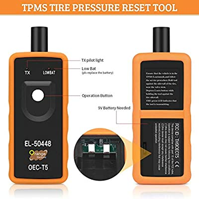 Greyghost EL-50448 Orange TPMS OEC-T5, GM TPMS Relearn Reset Sensor Activation Tool, Tire Pressure Monitor TPM TPS Relearn Tool for GM Series Vehicle 2006-2020: Automotive