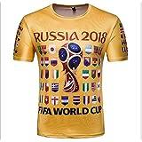 Ndier Camiseta con Camisetas de la Copa del Mundo de Banderas Nacionales para Fanáticos del Fútbol de la Copa…