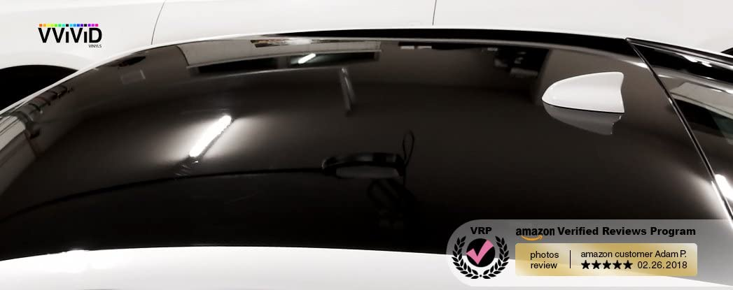 VViViD Gloss Black Vinyl Wrap Adhesive Film Air Release Decal Sheet 100ft x 5ft