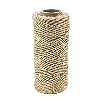 Cuerda de yute de hilo natural de 300 pies de alto rendimiento para material de embalaje industrial, manualidades, envoltura de regalos, plantación de jardines, suministros para proyectos escolares