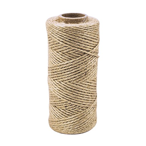 300 ft Heavy Duty Natural Color Twine Jute String for Industrial Packing Material, Arts & Crafts, Gift Wrapping, Garden Planting, School Project Supplies (Thank You Note For Fruit Basket)
