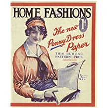 Home Fashions The Penny Dress Pattern Vintage Tin Sign Advertising