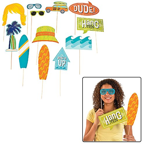 Surf's Up Photo Stick Props (12 Pack) on 12 1/2