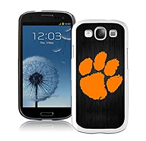 Clemson Tigers White Cool Photo Custom Samsung Galaxy S3 I9300 Phone Case