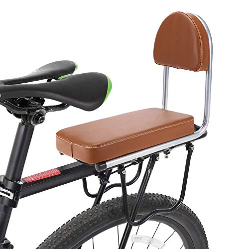 Lixada Bike Rear Seat Kid Bicycle Bike Rear Handrail Armrest Child Carrier Bike Back Seat (Brown)