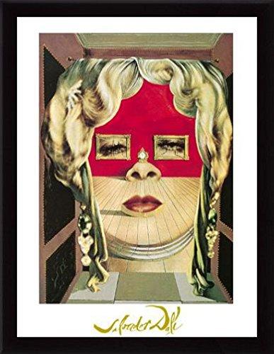 Divano Labbra Di Mae West.Salvador Dali Stampa D Arte E Cornice Mdf Nero Il Volto Di Mae