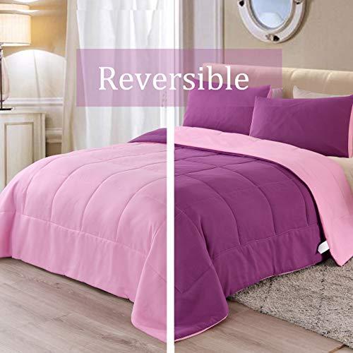 Exclusivo Mezcla Lightweight 2-Piece Comforter Set for All Seasons, Down Alternative Comforter with 1 Pillow Sham, Twin…
