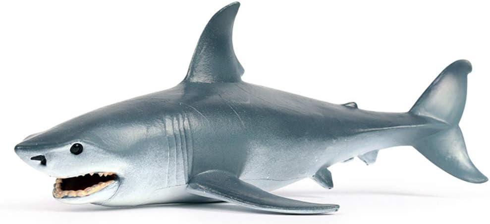 Sea Animal Shark Toy, Realistic Ocean Animal Figurine Plastic Sea Creature Shark Figure for Cake Topper, Party Supplies, Bath Toy