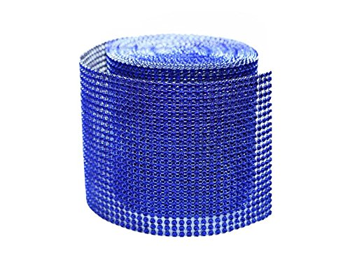 Efavormart Glittering Faux Diamond Dazzling Faux Rhinestone Mesh Ribbon Wrap for Arts and Crafts 4.5x10 yards/roll Royal Blue by Efavormart