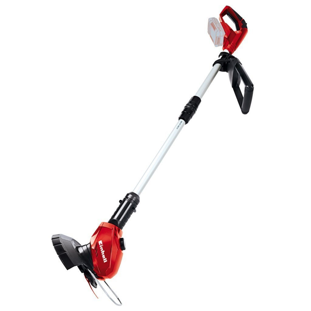 Einhell GE-CT 18 Li Solo Power X-Change 18 V Cordless Lithium Grass Trimmer with 20 cm Cutting Width (240 mm Cutting Circuit, 20 Plastic Blades, Without Battery and Charger) - Red 3411172