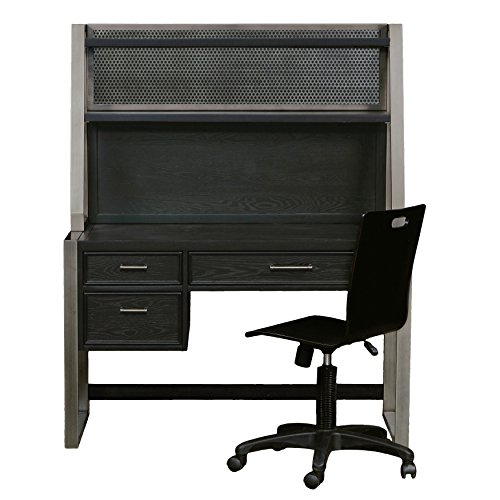Pulaski Graphite Youth Desk with Hutch and Chair