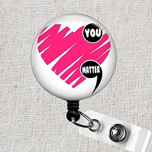 Mental Health You Matter Badge Holder You Matter Gift Mental Health Awareness You Matter Badge Clip YOU MATTER Retractable ID Badge Reel