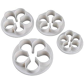 Fliyeong Moldes de plástico para Hornear, diseño de pétalos de Rosa, 4 Unidades: Amazon.es: Hogar