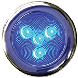 T-H Marine LED-51828-DP Stainless LED Puck Light, 3'' - Blue
