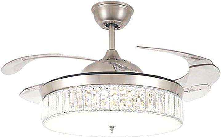 LED Ventilador De Techo De Cristal Con Luz Y Control Remoto ...