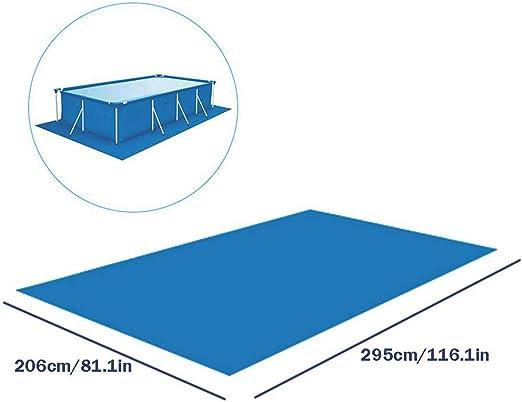 Paño de Piscina, Tapiz De Suelo para Piscinas, Cubierta De Tierra Rectangular, Cobertor Solar para Piscinas rectangulares, Piscinas sobre Tierra (206x295cm): Amazon.es: Jardín