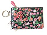 Coach Pink Pansy Cluster Floral Key Pouch Wallet F57984