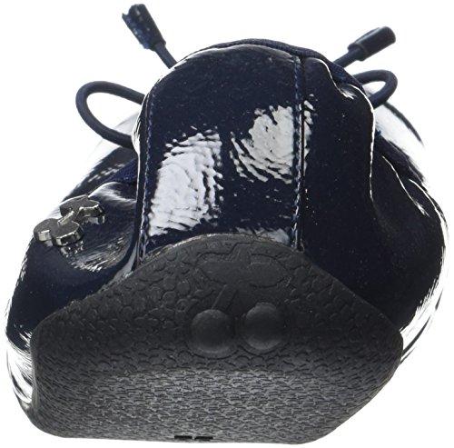 Le E17 Temps Dark Bleu Damen Ballerines Allegra des Cerises Blue Vernis fTrwqFf