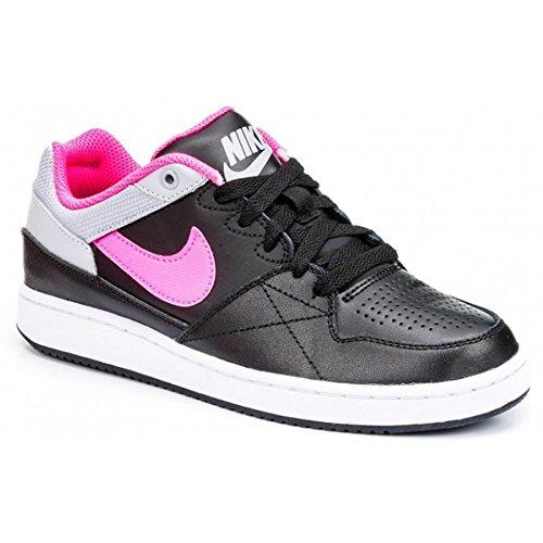 Nike Priority Low Gs, Zapatillas de Baloncesto para Niñas Negro / Rosa / Gris (Black / Pink Pow-Wolf Grey)