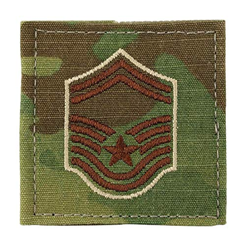 US Air Force Scorpion OCP Enlisted Rank with Hook Fastener (E-8 SENIOR MASTER SERGEANT (SMSGT))