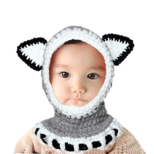 [Koolee Winter Knitting Wool Hat Kids Earflap Warm Cap Cute Fox Shawls Hooded Cowl Beanie Caps for 2-9 Years Baby Girls] (Halloween Costumes For 16 Month Old Girl)
