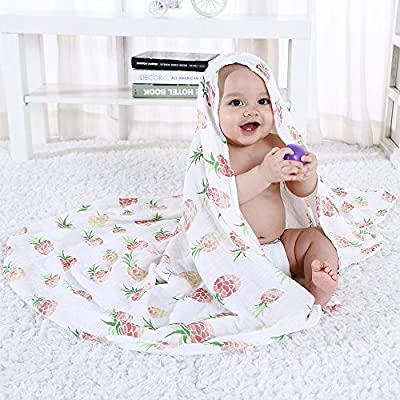"Swaddle Blankets Muslin for Baby - Large Size 47""x 47"" - 70% Bamboo / 30% Cotton Summer Nursing / Car Seat Cover By LifeTree"