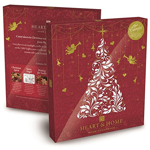 Heart and Home 2760180001 Adventskalender (26 Duft-Teelichter)