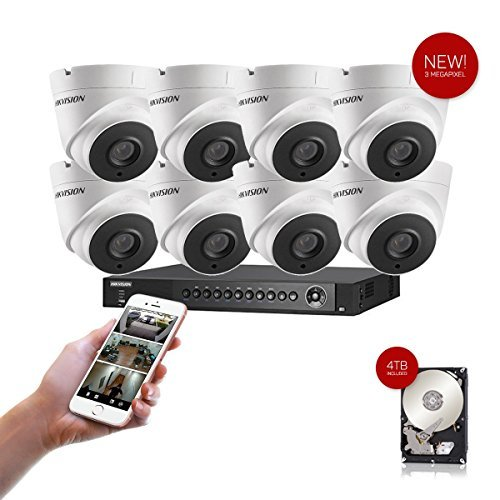 NEW! 8 Channel Hikvision USA Turbo HD Surveillance Kit 4TB