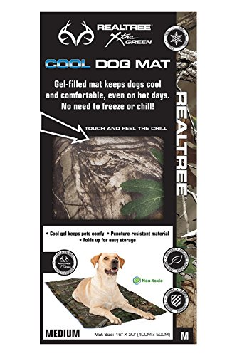 Outdoor Materials Upholstered (Hugs Pet Products Chillz Pad Comfort Cooling Gel Pet Pad, Realtree Xtra Green, Medium (16