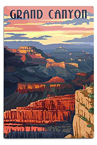 Lilyanaen New Great Grand Canyon National Park Arizona Sunset View Aluminum Wall Sign Wall Decor Ready to Hang for Outdoor & Indoor 12 x 18 in Canyon View Outdoor Wall