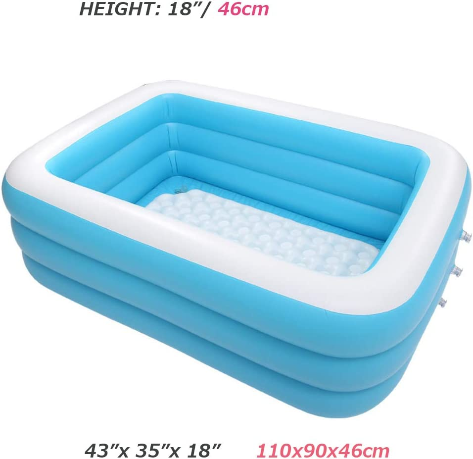 AMICA Piscina Familiar Piscina Hinchable Durable Plastic Pool ...