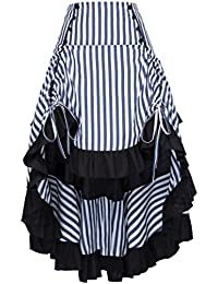 Striped Steampunk Gothic Victorian A Line Skirt Vintage Style BP000345