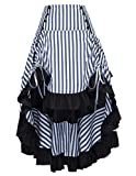 Belle Poque Steampunk Victorian Pirate Skirt Renaissance Costume for Wedding BP345-1 M