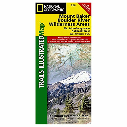 Trails Illustrated Mount Baker Boulder River Wilderness Area #826