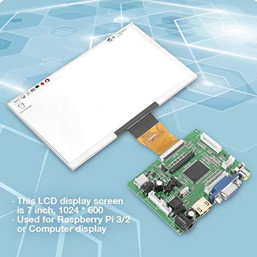 7'' TFT LCD Display HDMI VGA Monitor Screen Kit 1024600 Compatible Raspberry Pi 3/2 by Hilitand (Image #1)