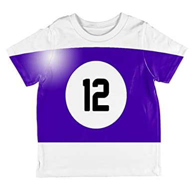 Halloween Billard Pool Ball zwölf Kostüm Kleinkind T Shirt: Amazon.de:  Bekleidung