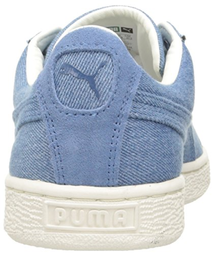 PUMA Basket Classic Denim Fashion Sneaker Blue Fog-whisper White 7J9D1